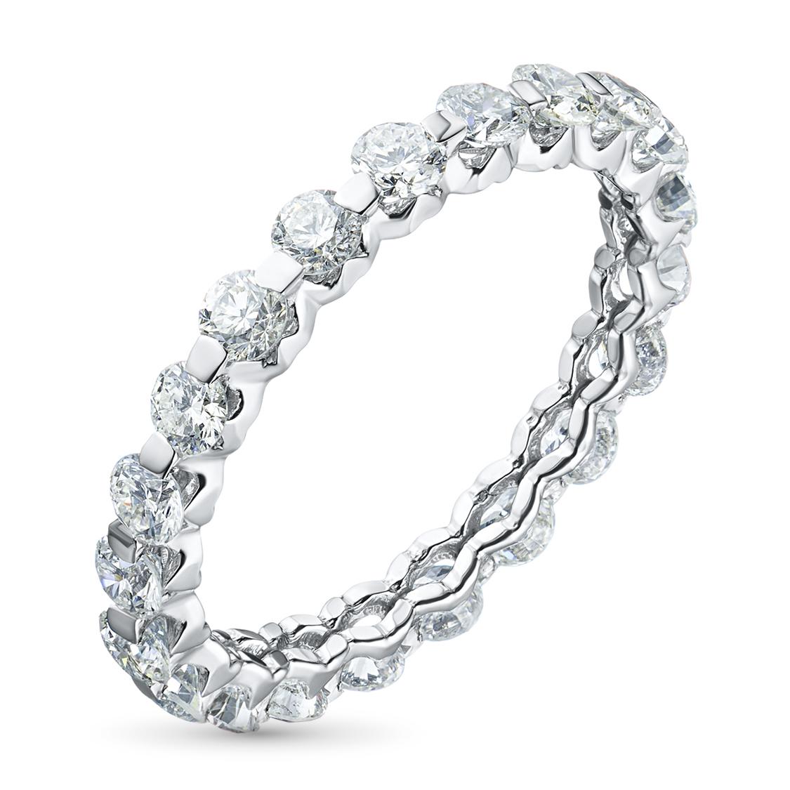 Кольцо из белого золота с бриллиантами э09к061516