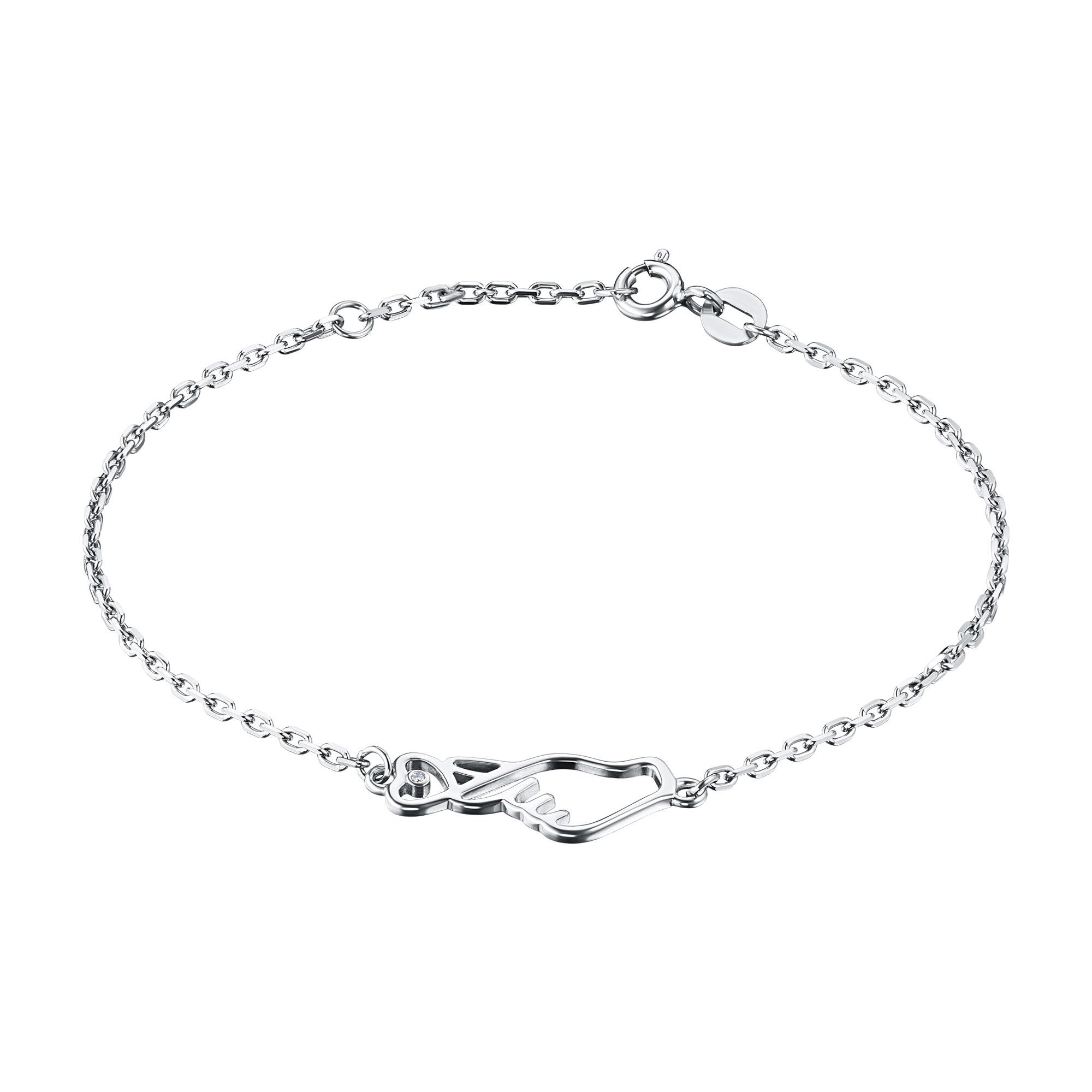 Браслет из серебра с бриллиантом э0601бр07191040
