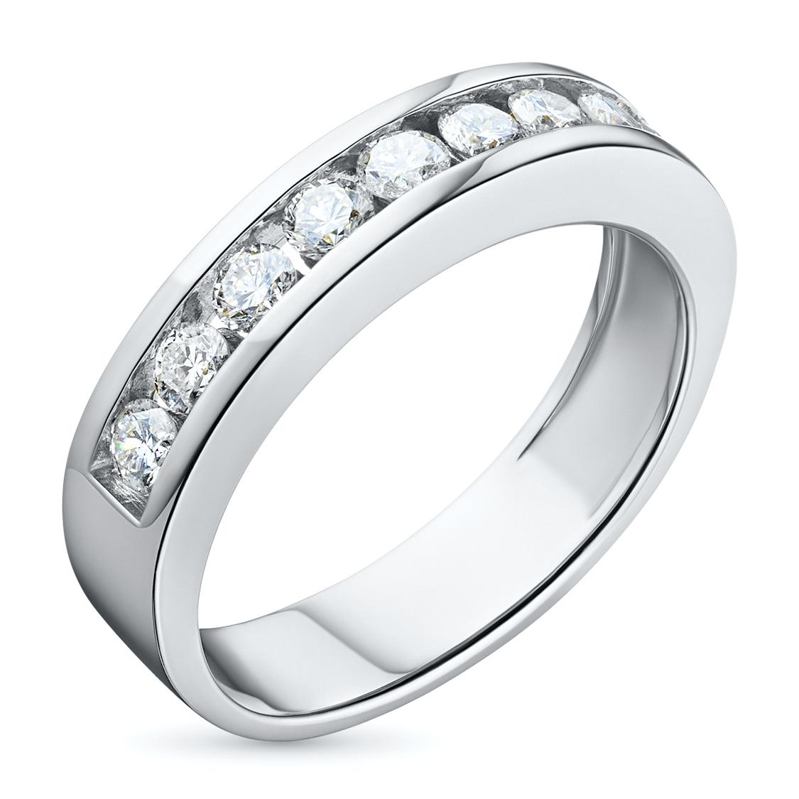 Кольцо из белого золота с бриллиантом э0901кц05102300 фото