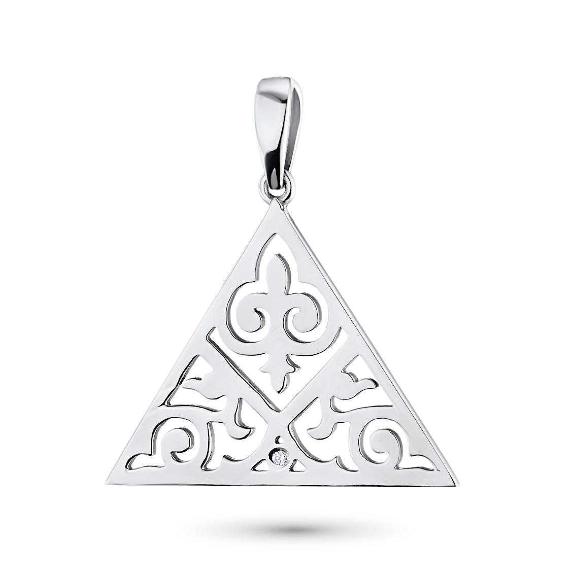 Подвеска из серебра с бриллиантом э06п041813