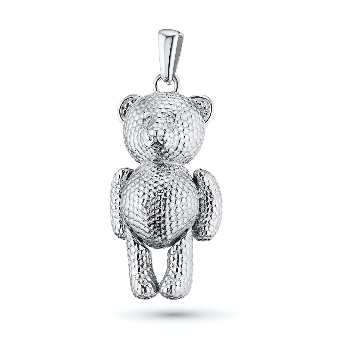 Подвеска из серебра с бриллиантом э06п031812