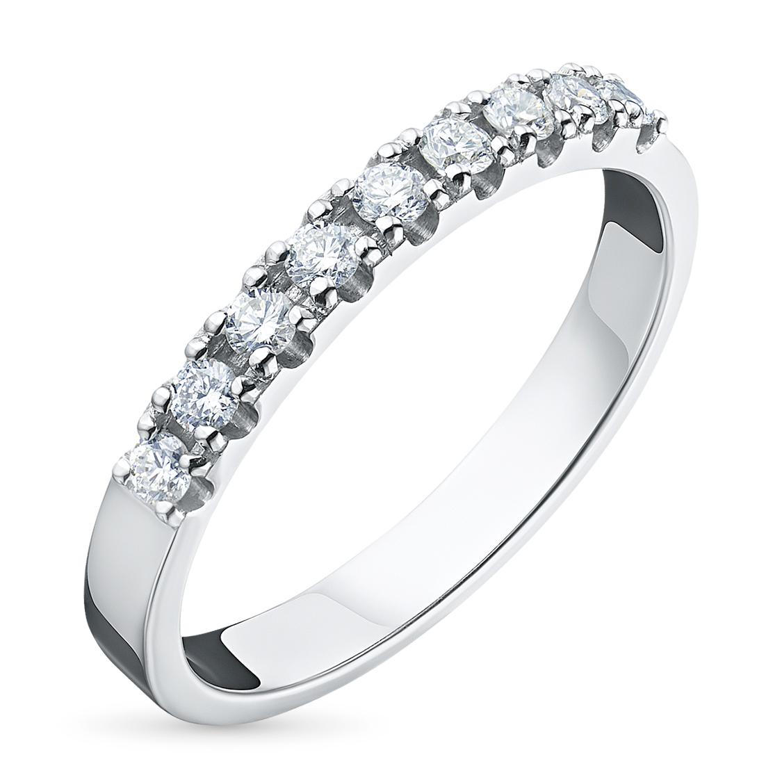 Кольцо из белого золота с бриллиантами э09к081612