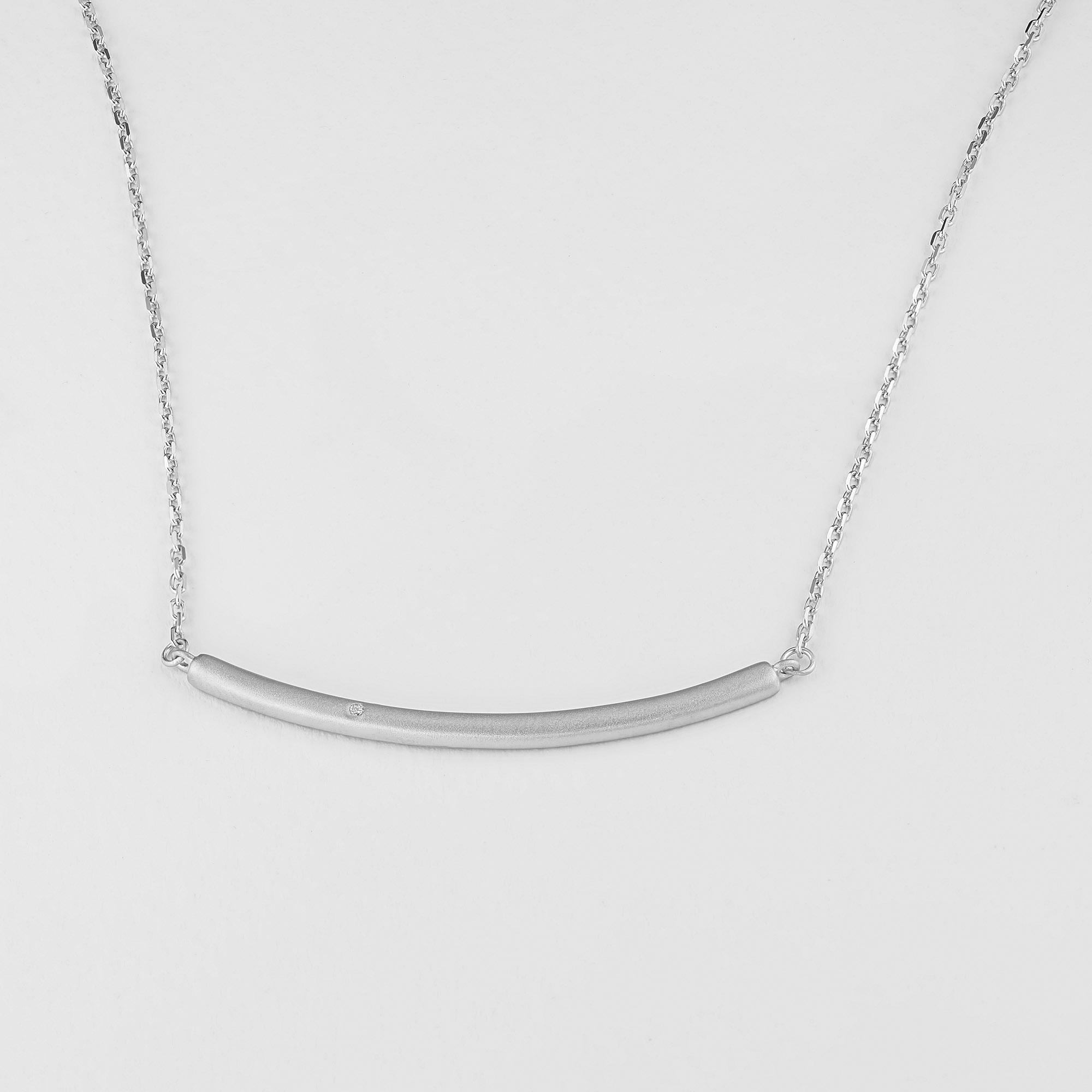 Колье из серебра с бриллиантом э1701кл11181300