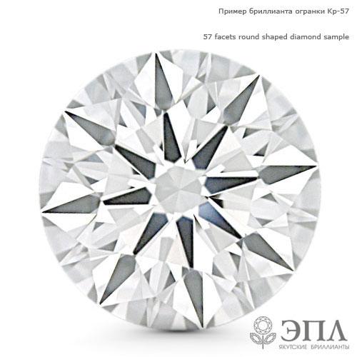 Бриллиант круг 0.080 карат ЯБ65207-Д