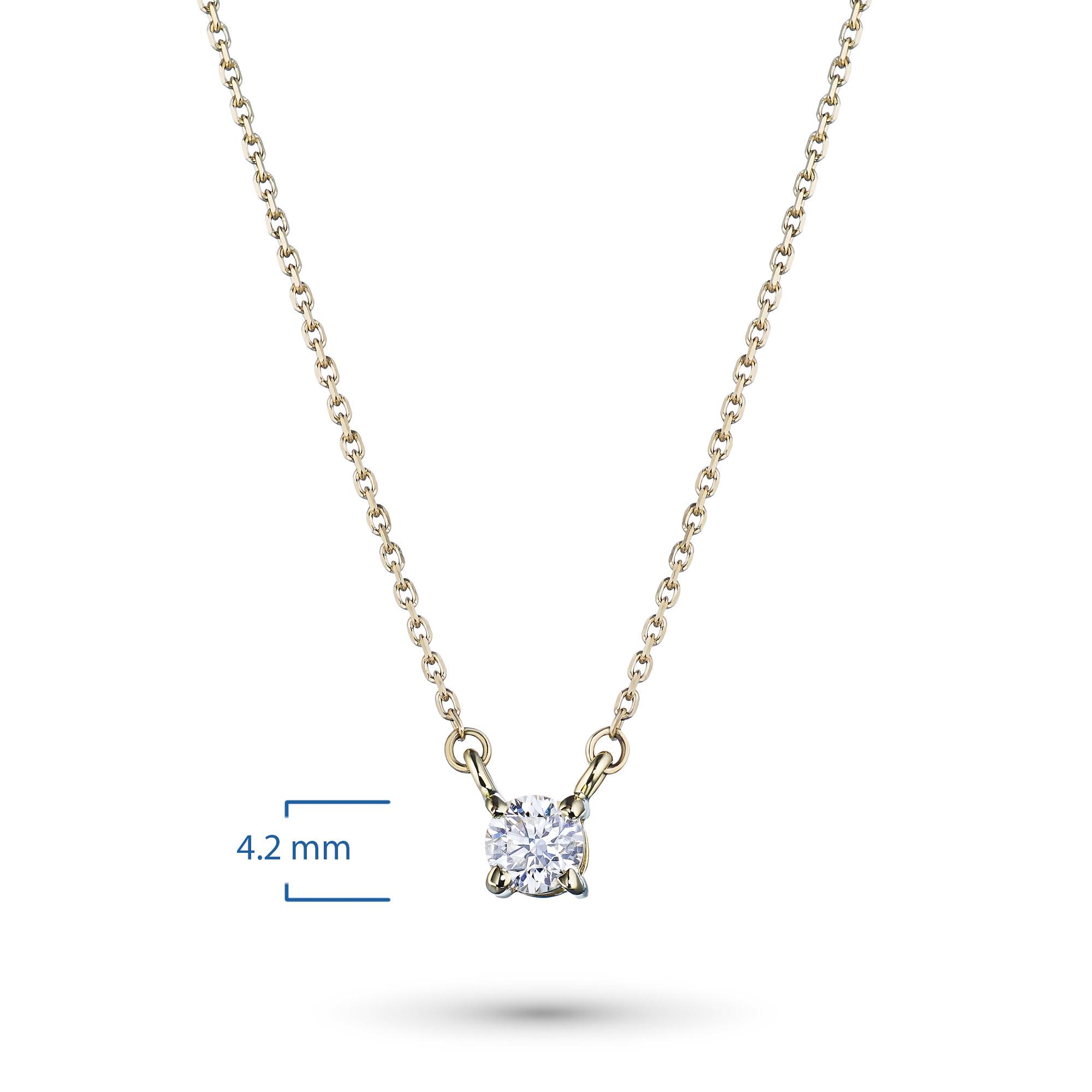 Колье из золота с бриллиантом э0301кл061657002