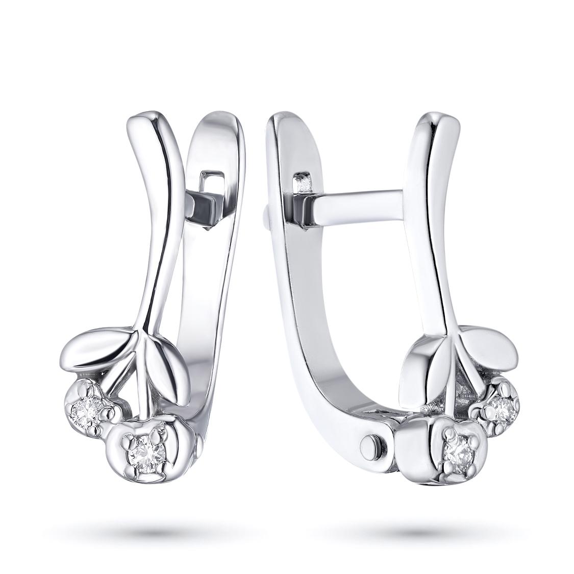 Серьги из серебра с бриллиантами э06с051575