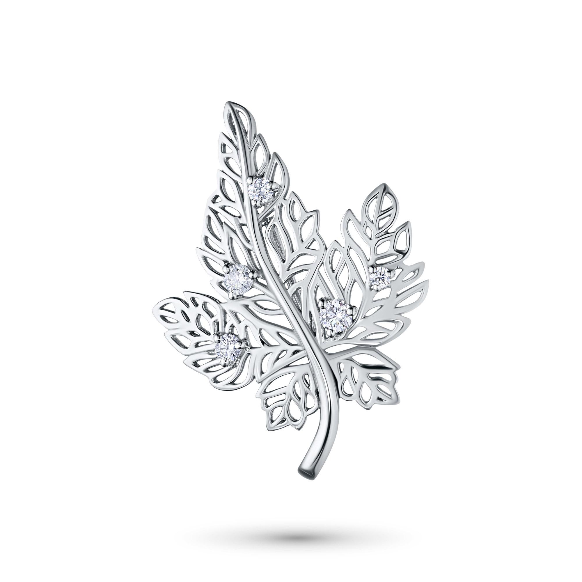 Купить со скидкой Брошь из белого золота с бриллиантами э09бш091868