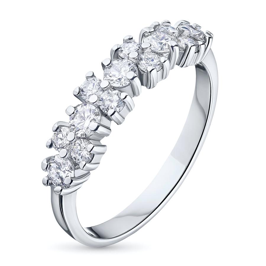 Кольцо из белого золота с бриллиантами э0901кц12142100 фото